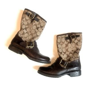 Coach X Frye Collaboration motorcycle Boot
